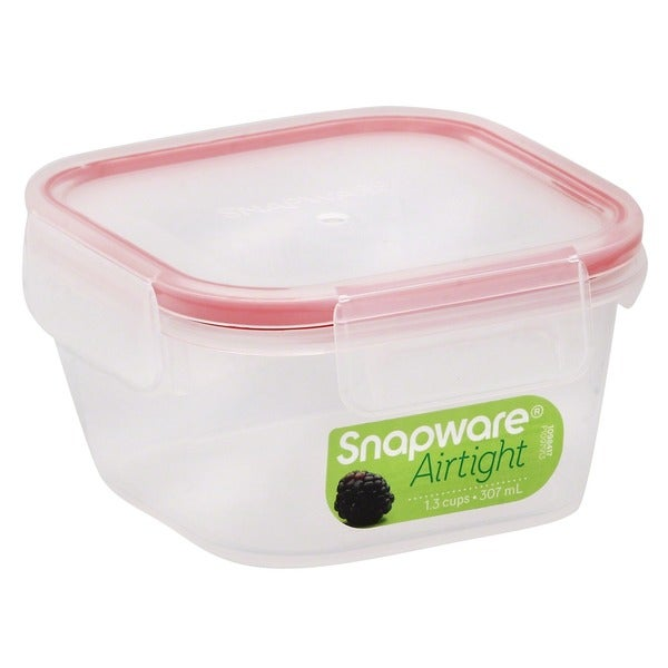 Snapware 1098417 1.3 Cup Mini Square Storage Container