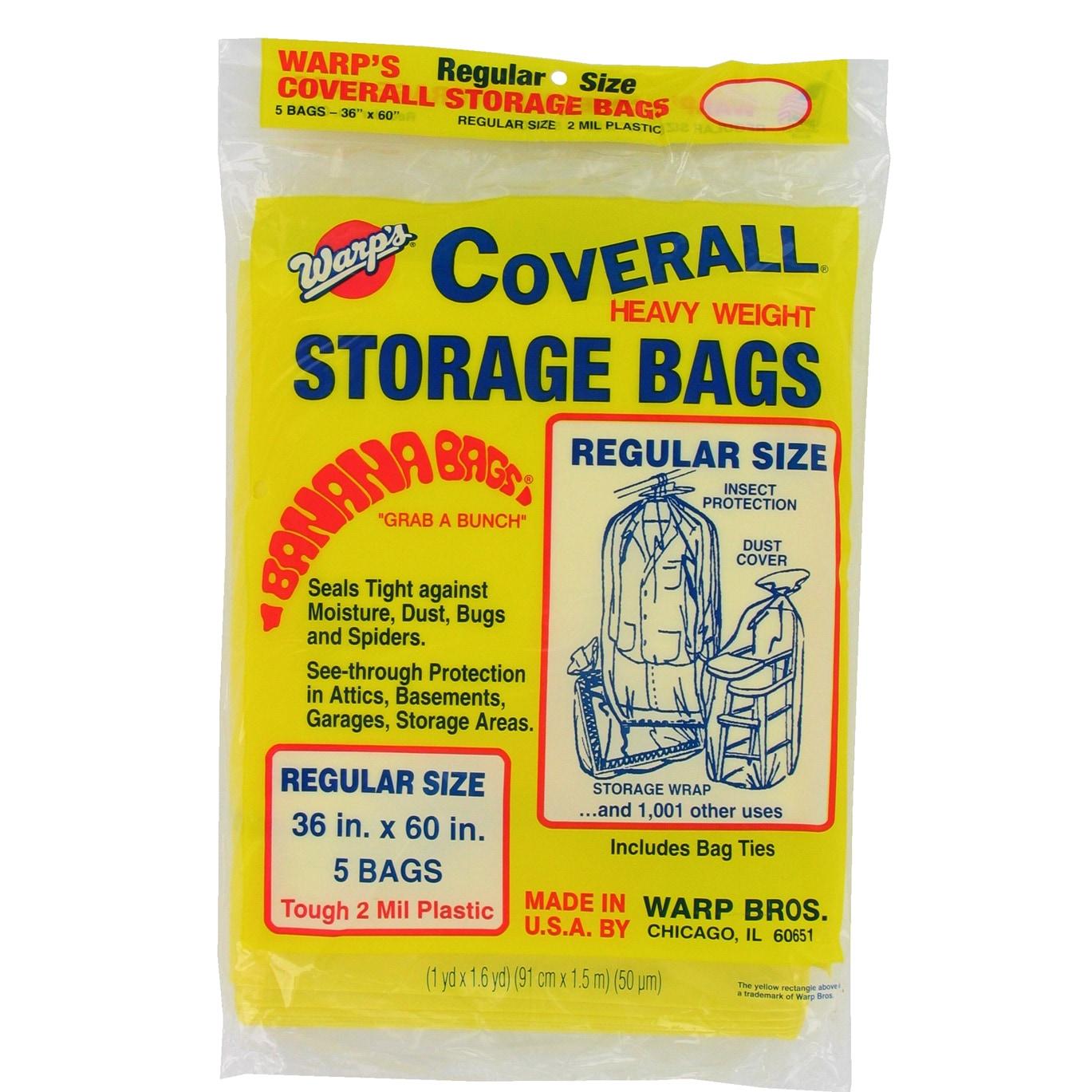 "Warps CB-36 5-count 36"" X 60"" Regular Size Storage Bags (..."