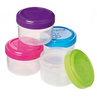 Sistema 21470 Dressing To Go Container Assorted Colors 4 Piece
