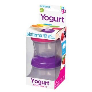Sistema 21466 Yogurt To Go Assorted Colors 2-count
