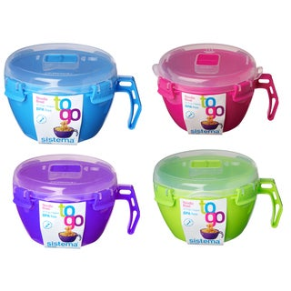 Sistema 21109 Noodle Bowl To Go Assorted Colors