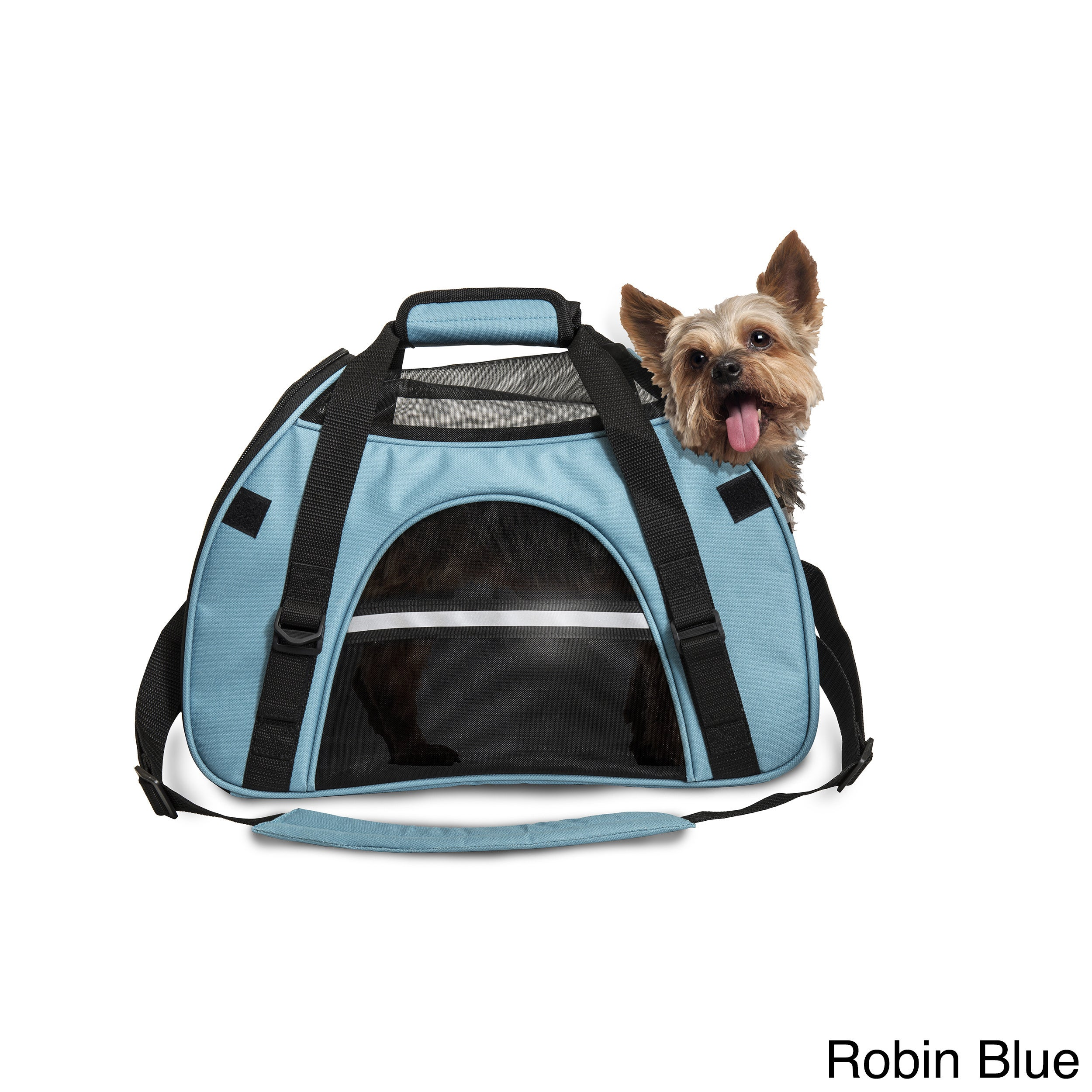 FurHaven All Season Pet Tote Carrier Bag (Small, Robin Blue)