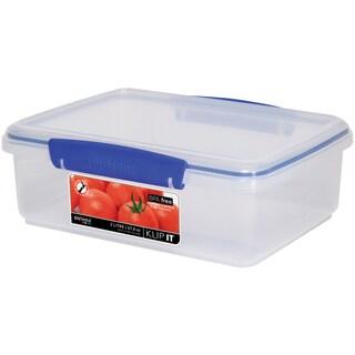 Sistema 1700 2 Liter Clear Rectangular Klip It Food Container