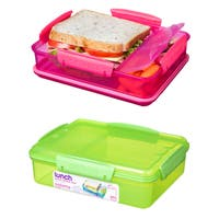 Sistema 1482 975ml Snack Attack Dual Container Assorted Colors