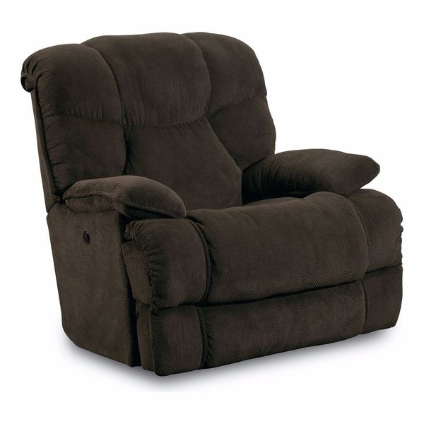 Shop Lane Furniture Luck Chocolate Brown Power Recliner Free
