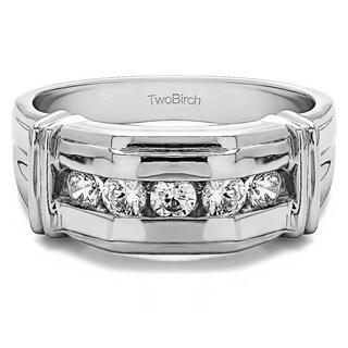 Sterling Silver Unique Men's 1/2ct TDW Diamond Fashion Ring (G-H, I2-I3)