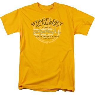 Star Trek/Kirk Graduation Short Sleeve Adult T-Shirt 18/1 in Gold