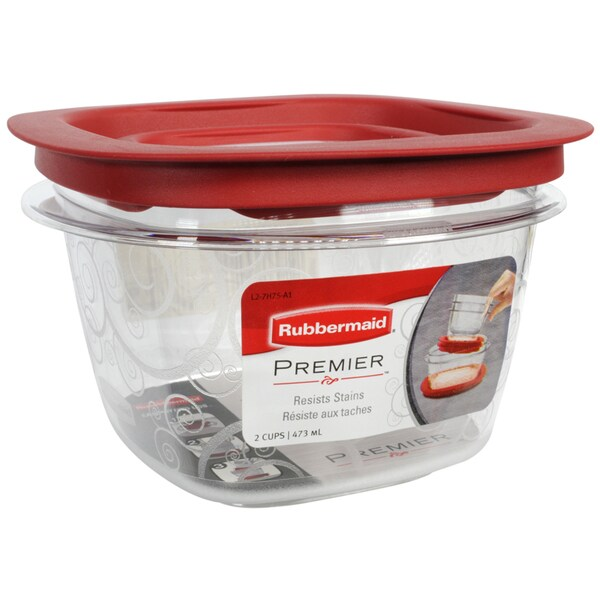 Rubbermaid 7H75TRCHILI 2 Cup Premier Food Storage Container Free
