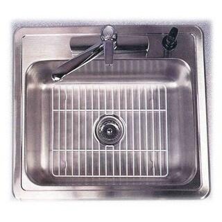 "Grayline 40323 .75"" X 16"" X 12.5 Large White Sink Drainer"