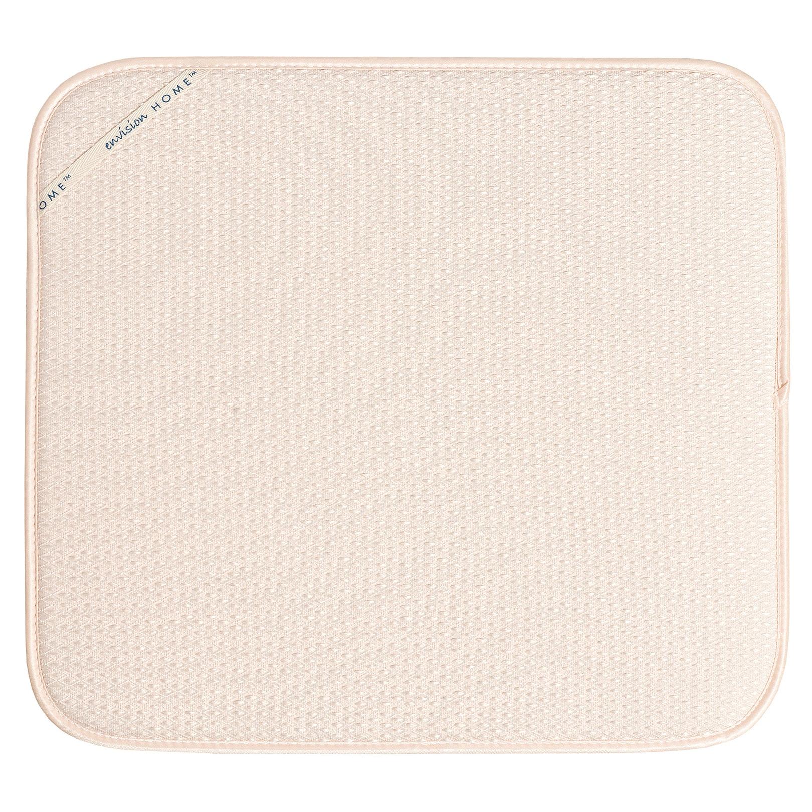 """Fox Run 41351 16"""" X 18"""" Cream (Ivory) Dish Drying Mat (16..."""