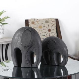 Giwa Elephant Statue (Set of 2)