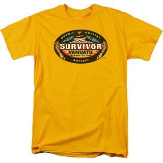 Survivor/Vanuatu Short Sleeve Adult T-Shirt 18/1 in Gold