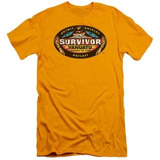 Survivor/Vanuatu Short Sleeve Adult T-Shirt 30/1 in Gold