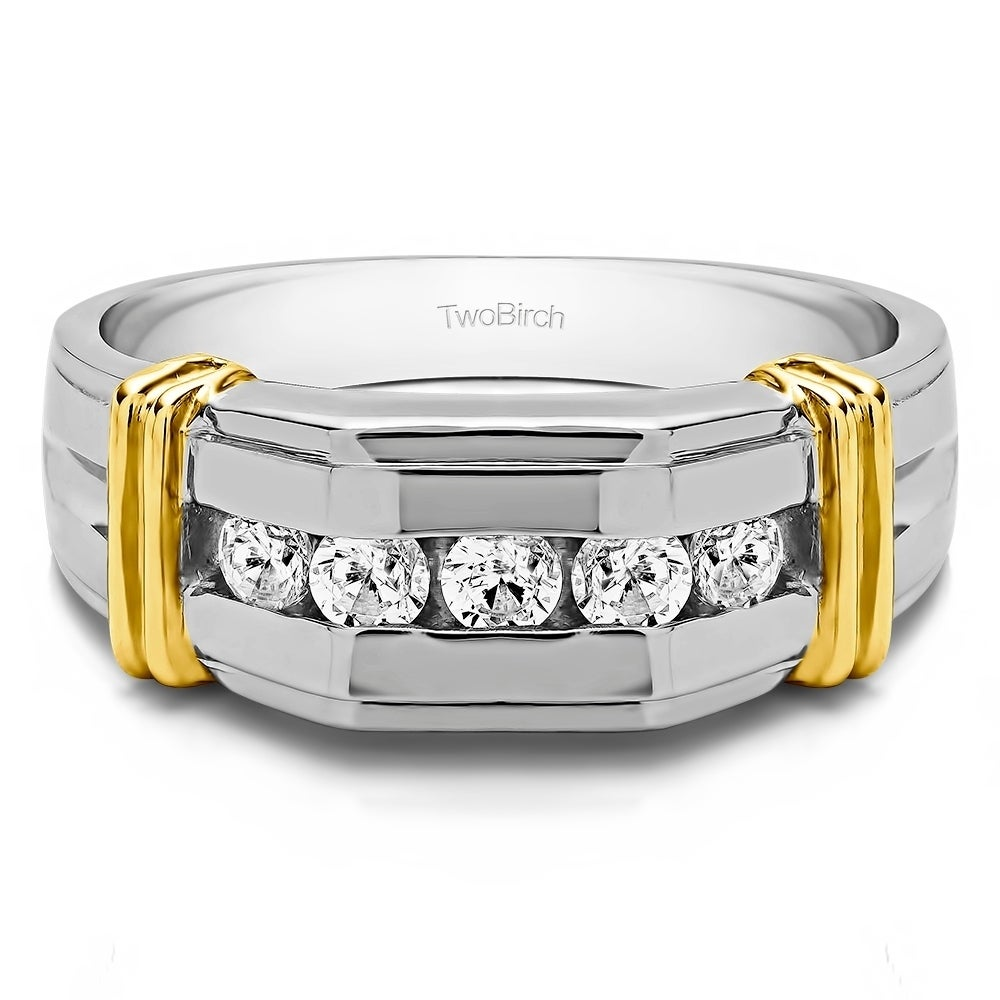 Sterling Silver Diamond Horseshoe Ring MSRP $114