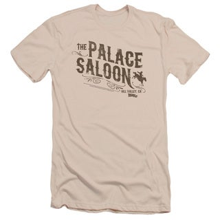Back To The Future Iii/Palace Saloon Short Sleeve Adult 30/1 in Cream