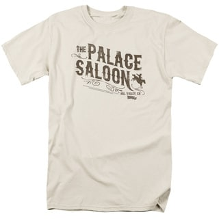 Back To The Future Iii/Palace Saloon Short Sleeve Adult 18/1 in Cream