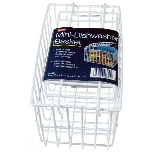 "Grayline 40152 8"" X 4-1/2"" X 4-3/4"" Mini White Dishwasher Basket"