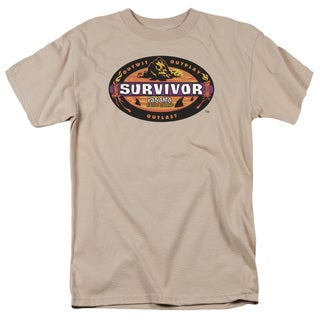 Survivor/Panama Short Sleeve Adult T-Shirt 18/1 in Sand