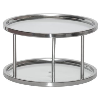 """Dial Industries S676P 10.5"""" X 10.5"""" X 6"""" Stainless Steel Lazy Susan Turntable"""