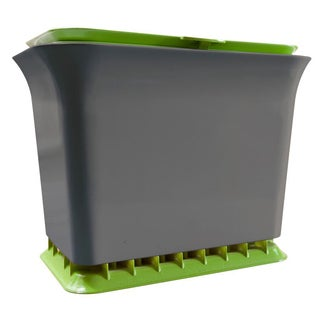 Full Circle FC11301-GS 1.5 Gal Green/Slate Fresh Air Kitchen Compost Collector