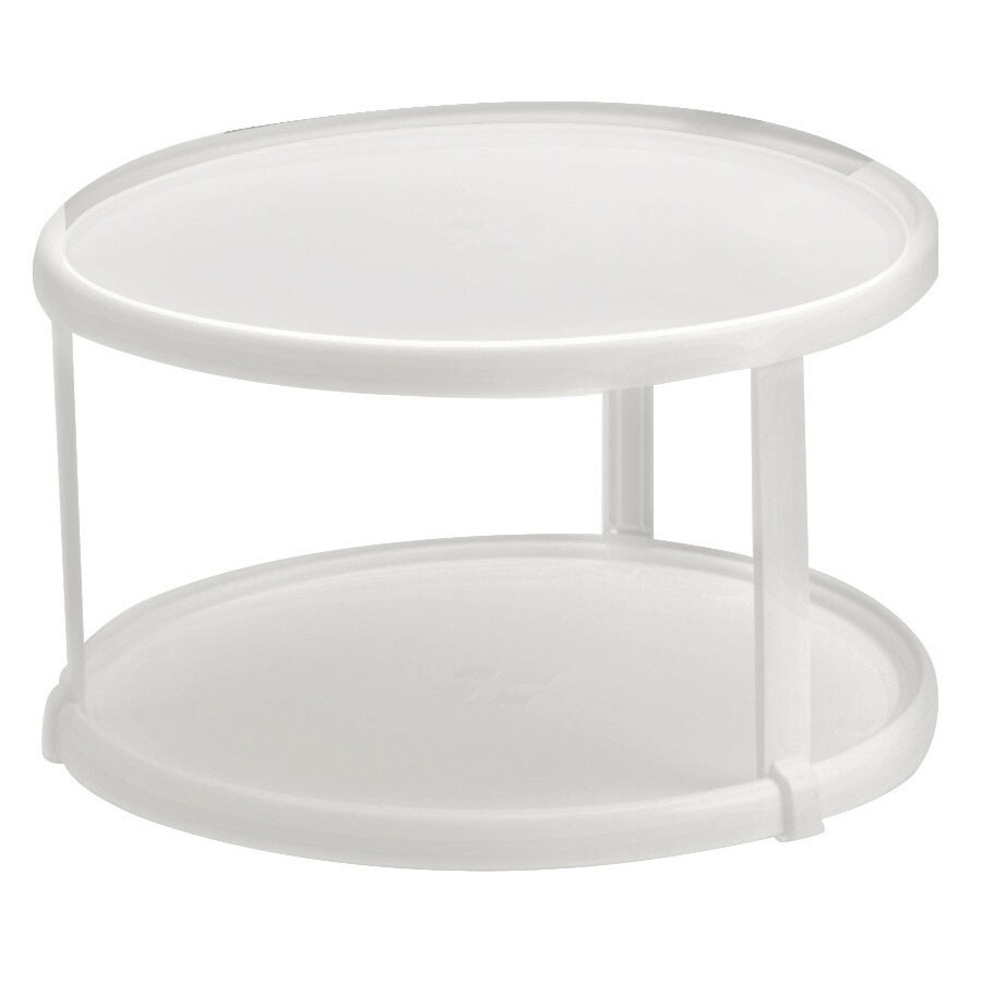 Rubbermaid 2937RDWHT Lazy Susan Twin Turntable (Turntable...