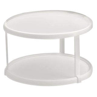 Rubbermaid 2937RDWHT Lazy Susan Twin Turntable
