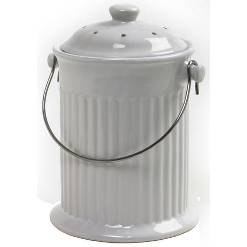 Norpro 93 1 Gallon White Compost Keeper Crock