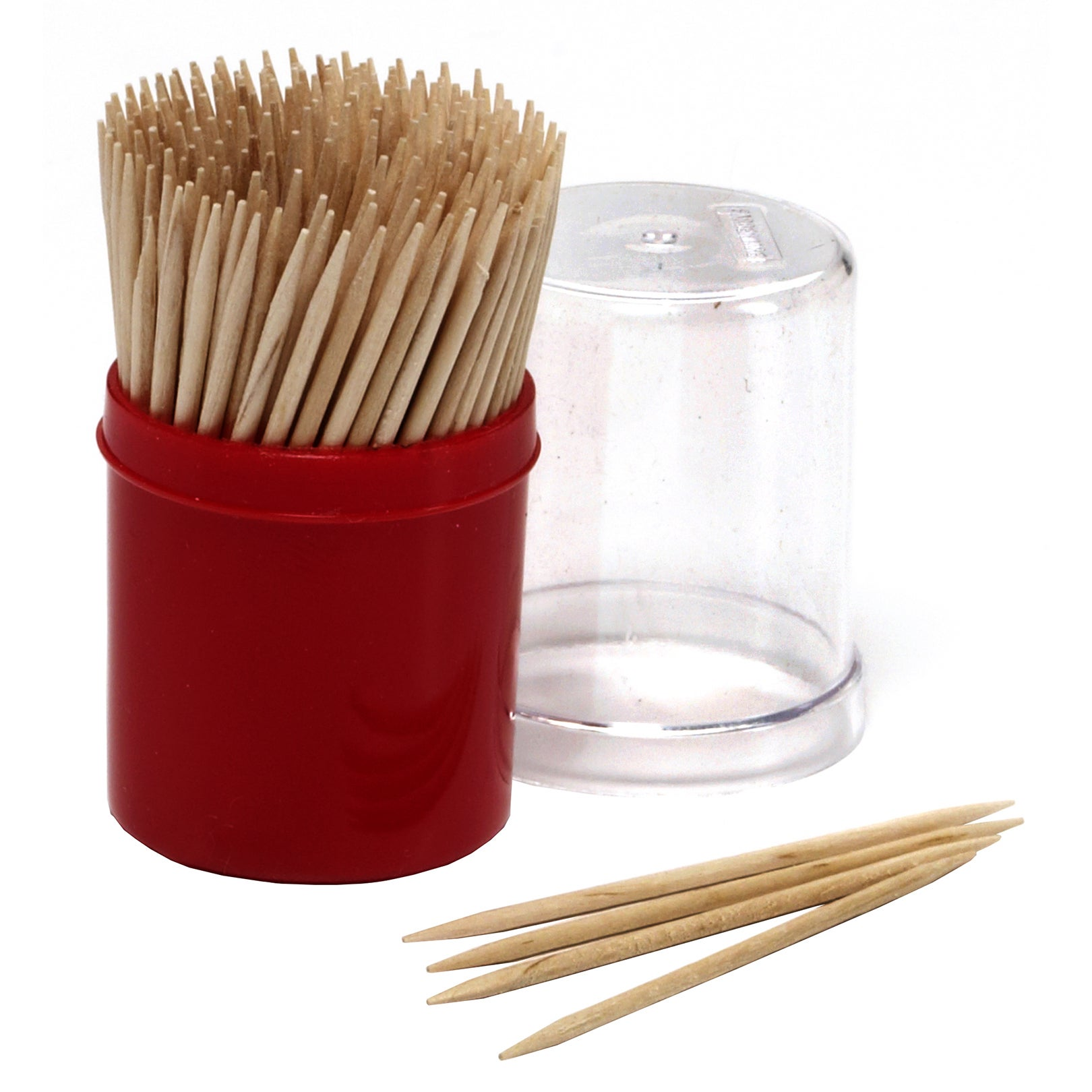Farberware 5080360 Red Toothpick Holder With 200 Toothpic...
