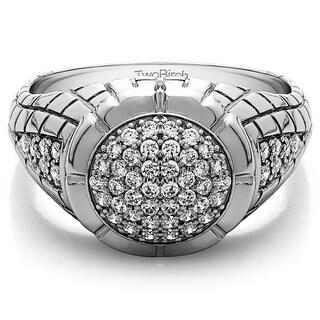 Charles Colvard 14k Gold Men's 2/5ct TGW Moissanite Wedding Ring