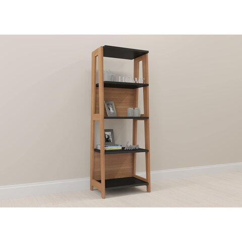 Modern Home Office Bookcase - Hanover/Black