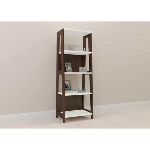 Modern Home Office Bookcase - Carmerino/Off White