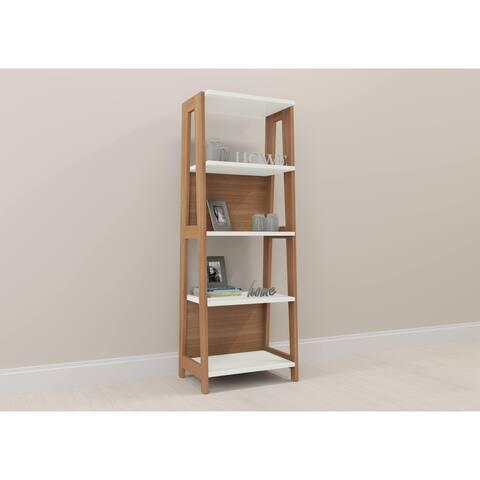 Modern Home Office Bookcase - Hanover/Off White