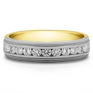 Charles Covard 14k Gold Men's 2/5ct TGW Moissanite Wedding Ring