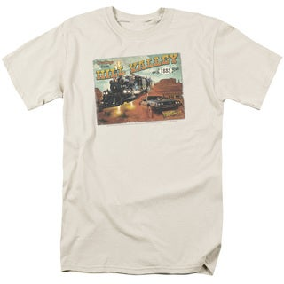 Back To The Future Iii/Hill Valley Postcard Short Sleeve Adult 18/1 in Cream