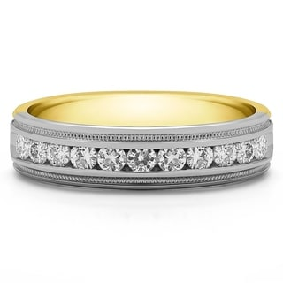 Charles Colvard Sterling Silver Men's 1/4ct TGW Moissanite Wedding Ring