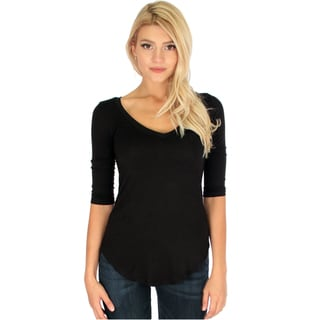 Women's 3/4-Sleeve V-Neck Top