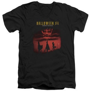 Halloween Iii/Season Of The Witch Short Sleeve Adult V-Neck in Black