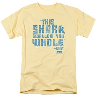 Jaws/Swallow You Whole Short Sleeve Adult 18/1 in Banana