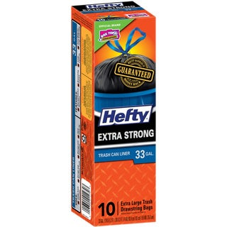 Hefty E81470 10 Count 33 Gallon Cinch Sak Trash Bags