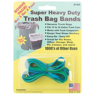 Creative Homeowner 1300 Super Heavy Duty Trash Bag Bands