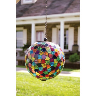 Carson Home Accents Multicolored Hanging Mosaic Solar Orb