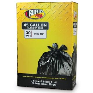 Ruffies Pro 1124922 45 Gallon Jumbo Black Trash Bags 30 Count