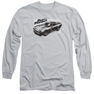 Fast & Furious/Spray Car Long Sleeve Adult 18/1 in Silver