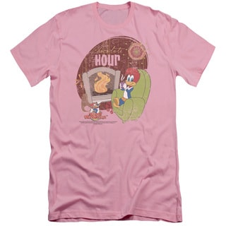 Woody Woodpecker/Chocolate Hour Short Sleeve Adult 30/1 in Pink
