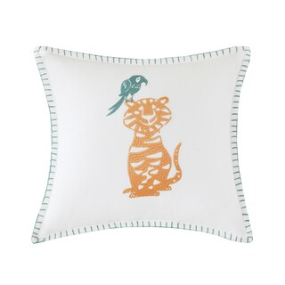 Ink+Ivy Kids Henry Multi Embroidered Square Pillow