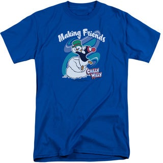 Chilly Willy/Making Friends Short Sleeve Adult Tall in Royal