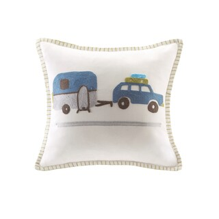 Taylor & Olive Bricky Kids Multi Embroidered Square Pillow