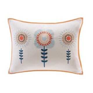 Ink+Ivy Kids Laila Multi Embroidered Oblong Pillow