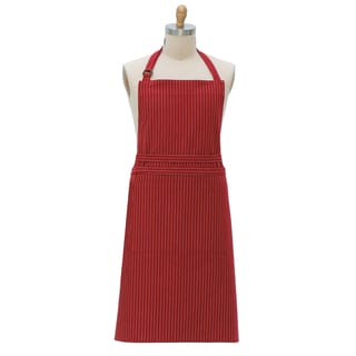 Kay Dee F9002 Claret Pin Striped Apron