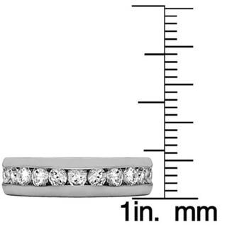 Sterling Silver Channel-set Men's 1/2ct TDW Diamond Milgrain Wedding Ring (G-H, I2-I3)